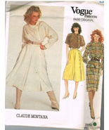 Vintage Vogue Patterns Paris Original Claude Montana Designer Sewing Pat... - $11.75