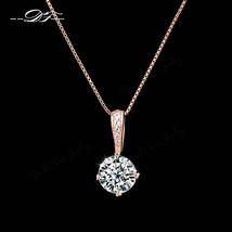 Style Cubic Zirconia Chain Necklaces & Pendants Rose Gold Color Fashion ... - €10,87 EUR+