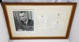 Lyndon B. Johnson Autograph Picture Presidential Luncheon Menu Invitatio... - $981.64