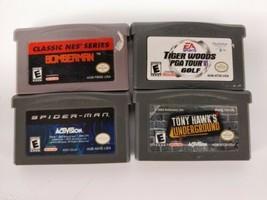 Game Boy Advance Spider-Man Tony Hawk Underground BomBerman Tiger Woods PGA - $12.82