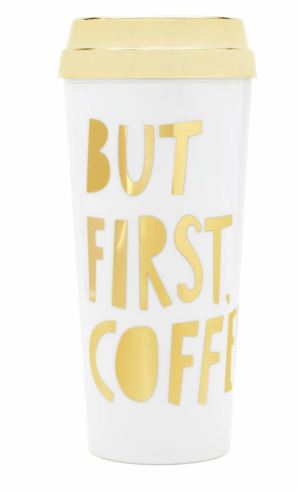 Ban.do Deluxe Hot Stuff Insulated Thermal Travel Mug 16 Ounces But First Coff...