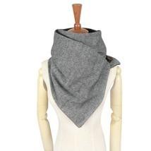 Fashion Winter Infinity Scarf Wool Cotton Herringbone Chevron Ring Wrap ... - £15.13 GBP