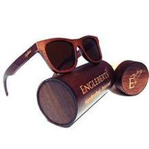Handcrafted Ebony Wooden Sunglasses With Bamboo Case, Tea Colored Polari... - $47.99