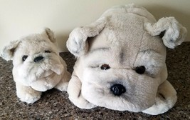 "Yomiko 6"" 12"" Dogs Bulldog Stuffed Animals Plush Russ Berrie RARE tan bu... - $34.99"