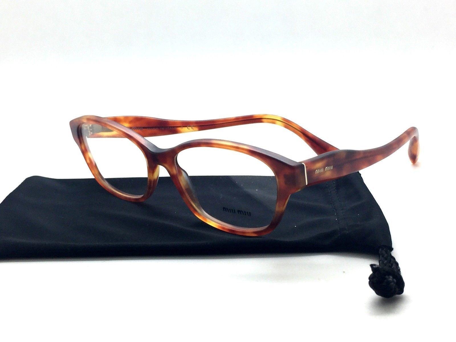 7b69a1a15265 MIU MIU Matte Honey Havana Eyeglasses VMU and 24 similar items. 57