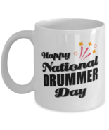 Funny Drummer Coffee Mug - Happy National Day - 11 oz Tea Cup For Office  - $14.95