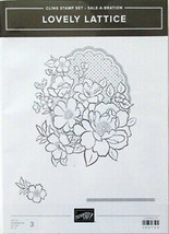 Stampin'  Up Cling Stamp Set Sale-A-Bration Lovely Lattice # 149730 - $9.40