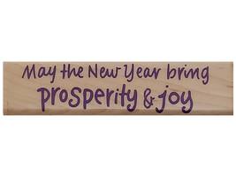 Hero Arts 1995 Prosperity & Joy Wood Mounted Rubber Stamp #F688