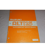 1986 86 SUZUKI ALT125 ALT 125 SUPPLEMENT SHOP SERVICE REPAIR MANUAL - $9.36