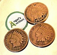 Indian Head Penny 1899, 1900, and 1901 AA20-CNP2135 Antique image 2