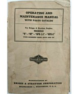 VTG 1940 1954 Briggs & Stratton Operating Maintenance Manual N NP NPR1.6... - $18.87