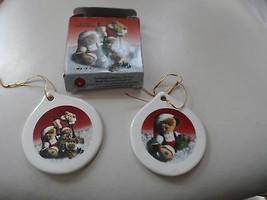 Set of 2 Porcelain Boyds Bear ornaments - $7.50