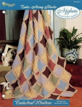 Cathedral Window Afghan Take Along Blocks Crochet Pattern/Instructions NEW - $2.67