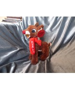 "Scarce 2010 9"" Stuffed Rudolph the Red Nosed Reindeer Dan Dee Scarf Tags... - $15.00"