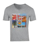 LISBON - PORTUGAL - NEW COTTON GREY V-NECK TSHIRT - $20.84
