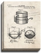 Flour Sifter Patent Print Old Look on Canvas - $39.95+