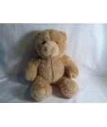 "Build A Bear Lt. Caramel Brown Classic Teddy Bear Plush Sitting 10"" - $9.67"