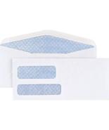100 x Staples # 9 - 3 7/8 x 8 7/8 Invoice Double Window Security-Tint En... - $16.78