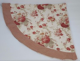 Waverly Garden Room Norfolk Rose Tablecloth Oblong Gingham Check Oval 68 X  62   $39.59