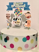 Up Party Cake Topper Personalized Disney Up - $13.50