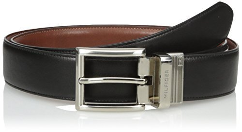 Tommy Hilfiger Men's Dress Reversible Belt, Black/Brown, 38