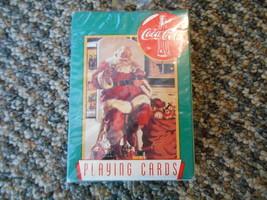 1995 Coca Cola Coke Playing Cards Deck Christmas Santa Clause Original Packaging - $9.99