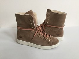 UGG STARLYN FAWN ANKLE SNEAKERS LEATHER SHOE US 8 / EU 39 / UK 6 NIB - $88.83
