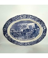 "Stunning 20"" George Washington DECLARATION OF INDEPENDENCE Platter Blue ... - $296.99"