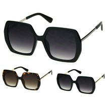 Womens Thick Plastic Rectangle Butterfly Chic Sunglasses P30280 - $12.94