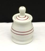Vintage Shenango USA Restaurant Ware China Mustard Pot Condiment Jar Spo... - $9.95