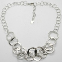 Choker Necklace Silver 925 with Circles Worked by Maria Ielpo , Made in Italy image 1