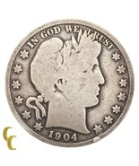 1904-S Silver Barber Half Dollar 50C (Good, G Condition) Full Rims! - €46,72 EUR