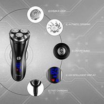 HATTEKER Electric Shaver Rotary Razor Men Cordless Beard trimmer Pop-trimmer Wet image 2