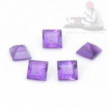 Natural Amethyst 5mm Square Faceted 10 Pieces Top Quality Loose Gemstone... - $26.27