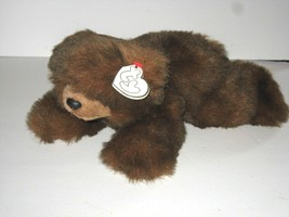 """Ty Classic Brown Bear Baby Paws Vintage Plush Soft 12"""" Laying Down Faded... - $9.79"""
