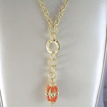 925 STERLING SILVER NECKLACE WITH CARNELIAN FINELY WORKED OVAL PENDANT, ITALY image 3