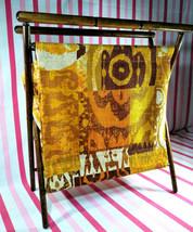 Amazing Vintage Tiki Graphic Design Collapsible Burlap Knitting or Sewin... - $28.00