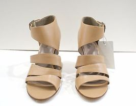 MORRISON 10 Belle SIGERSON Open Strappy 200 Sandals Beige Wedge Heels Sz Toe FRqRZ1w