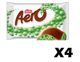4x MINT Aero Canadian Chocolate Candy Bars Bubbles by Nestle FRESH FROM ... - $14.82