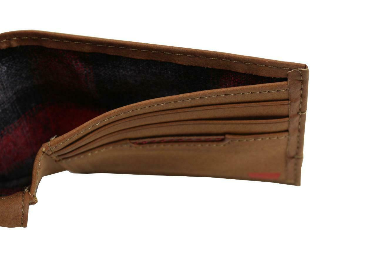 NEW LEVI'S MEN'S PREMIUM COATED LEATHER BILLFOLD CREDIT CARD WALLET TAN 31LV2216 image 6