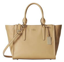 NWOT Coach 33995 Nude Crossgrain Leather FULL SIZE Crosby Carryall RARE!   - $323.00