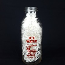 Valley Bell Dairy Ice Water Bottle Charleston WV One Quart Vintage Red P... - $19.34