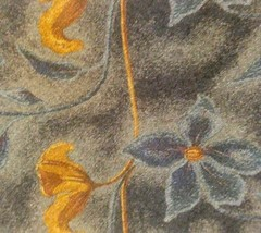 Ermenegildo Zegna Beautiful 100% Silk Blue & Brown Floral Design Tie Italian - $39.55