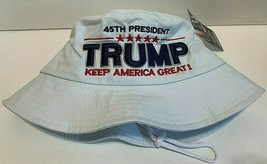 MAGA President Donald Trump Keep America Great Hat White Bucket Hat - $15.83