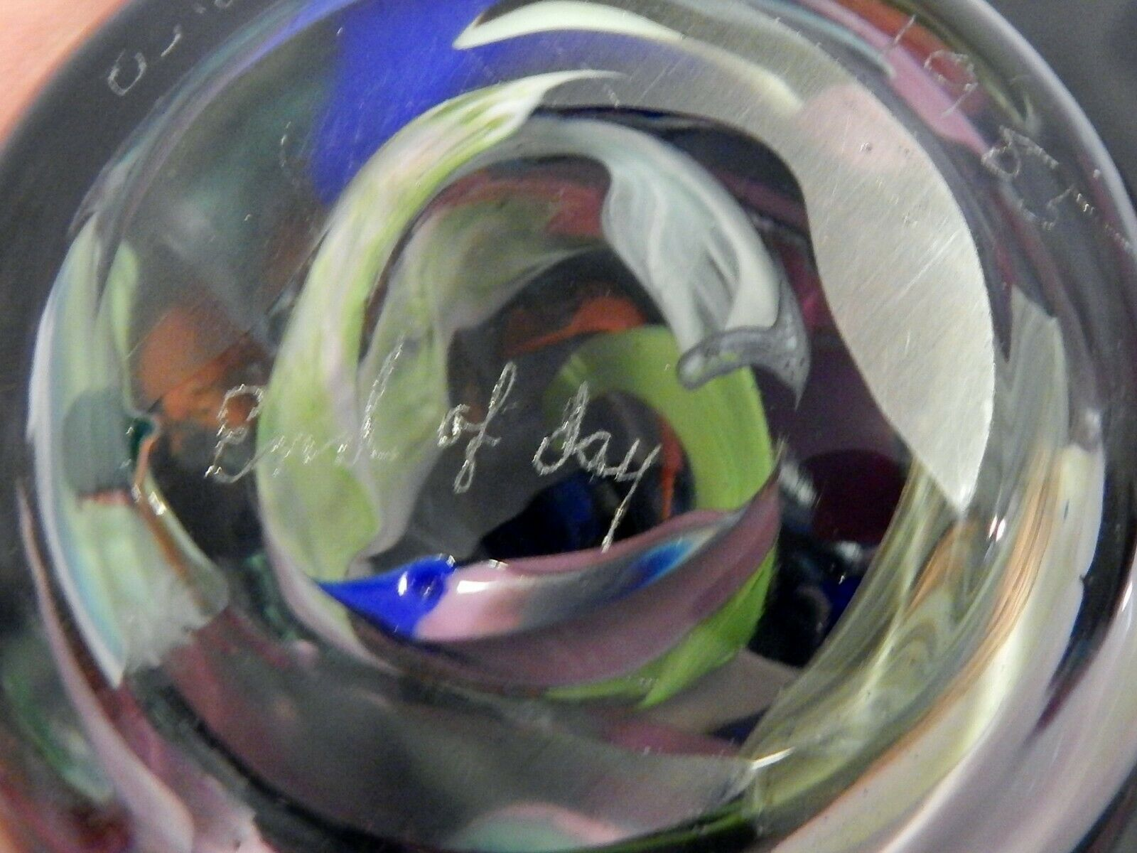 Signed Anthony De Palma End of the Day Large Art Glass Paperweight