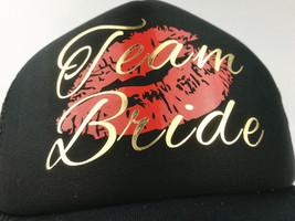 C&Fung® Bride Team Bride Hats Sexy Red Lip Kiss Gold Bachelorette Hen Party - $8.62