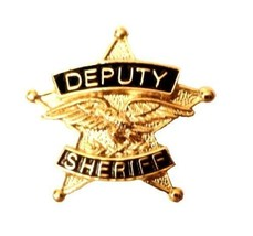 Deputy Sheriff Tie Tac 5 Point Star Eagle Officer Premier No Stone P3802... - $15.65