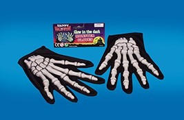 Loftus International Star Power Dark Skeleton 2pc Gloves, Glow Black, On... - $9.50