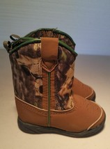 Faded Glory toddler boys infants camouflage camo and brown boots - $193,10 MXN