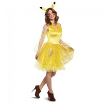 Women'S Pikachu Female Adult Deluxe Costume, Yellow Large (12-14) - $49.69